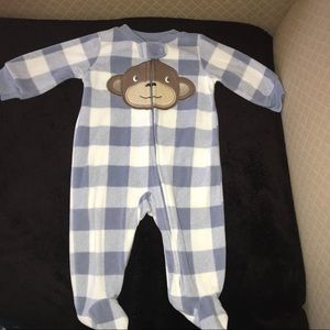 Carters 3 month fleece zip up sleeper
